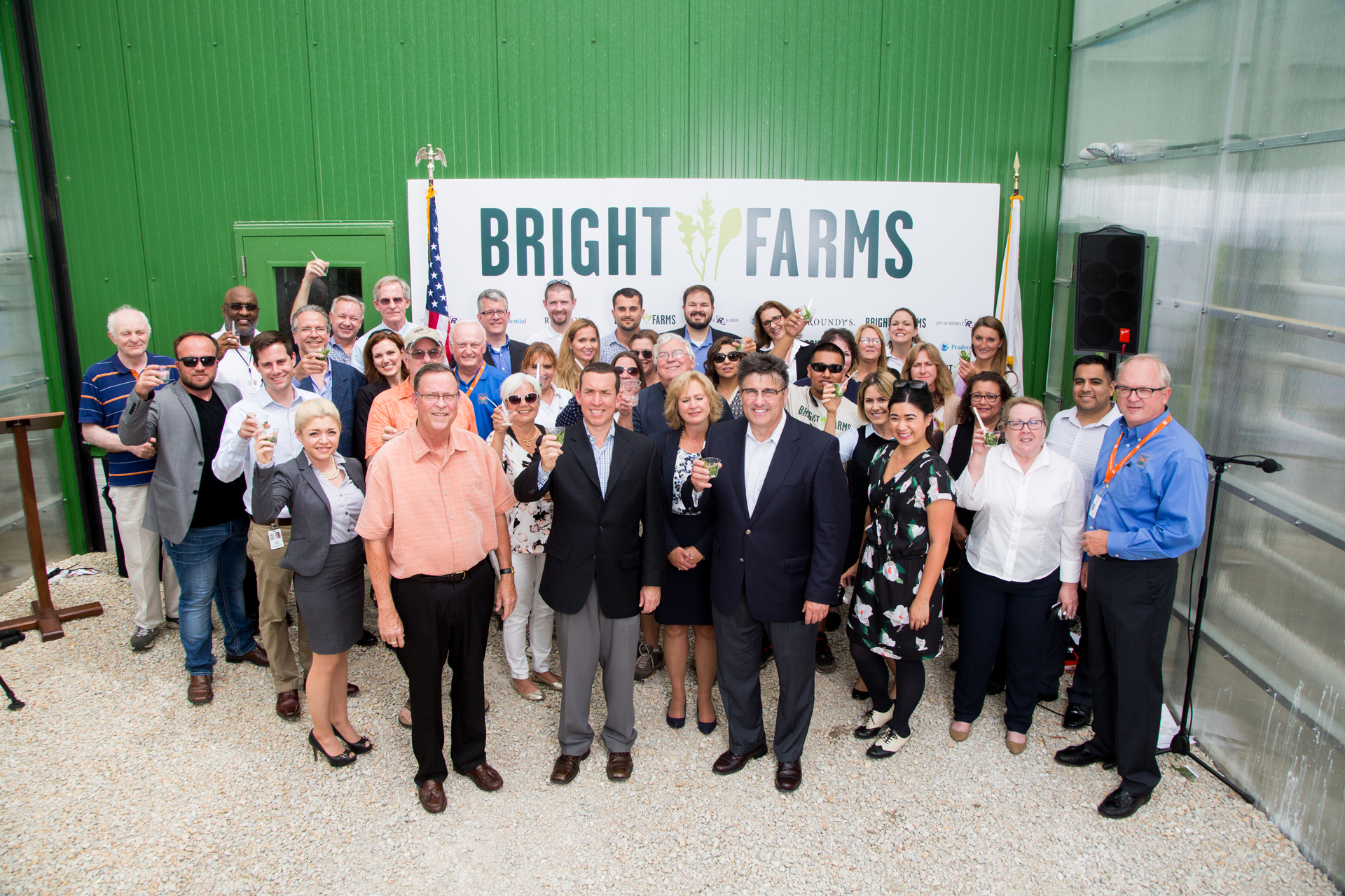 Brightfarms Chicagoland Greenhouse Celebrates First