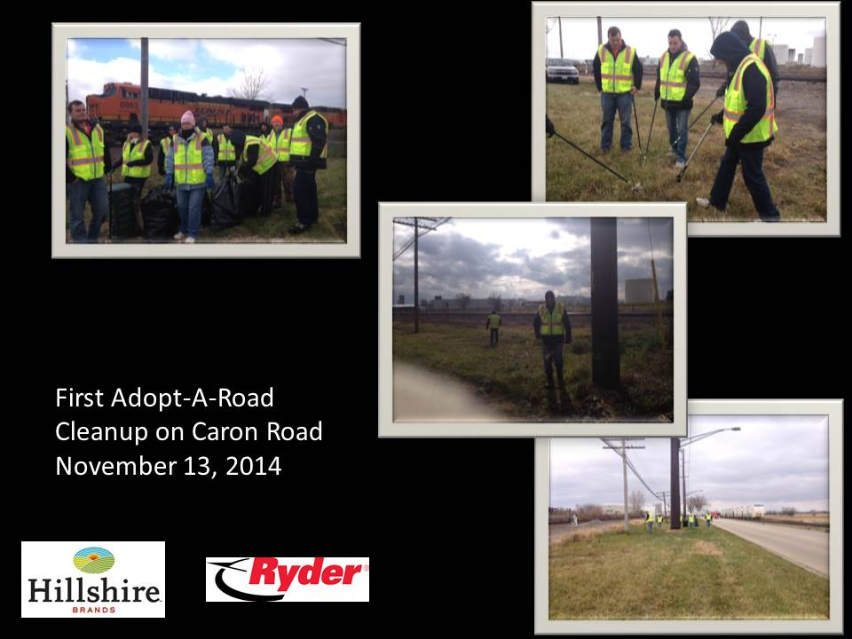 Hillshire Adopt A Road clean up pictures